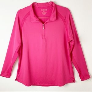 San Soleil Athletic Zip Polo Pink UPH 50 sz XL